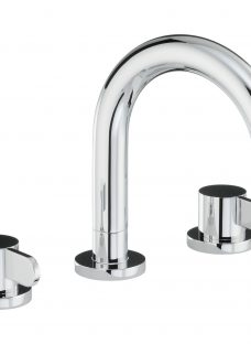 Abode Bliss Thermostatic Deck Mounted 3 Hole Bathroom Mixer Tap