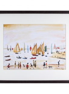 L. S. Lowry - Yachts 1959 Framed Print