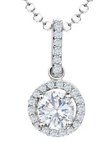 Jools by Jenny Brown Sterling Silver Cubic Zirconia Round Pendant