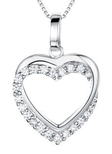 Jools by Jenny Brown Sterling Silver Tangled Pave Heart Pendant