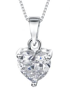 Jools by Jenny Brown Small Heart Cubic Zirconia Pendant Necklace