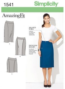 Simplicity Amazing Fit Women's Skirt Sewing Pattern