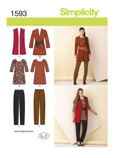 Simplicity Womens' Coordinates Sewing Pattern
