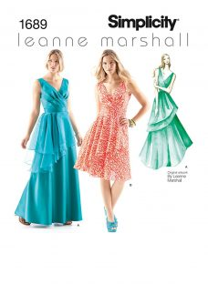 Simplicity Leanne Marshall Occasion Dresses Sewing Pattern