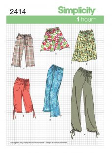 Simplicity 1-Hour Womens' Skirts & Trousers Sewing Pattern