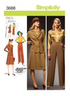Simplicity 1940s Retro Outfit Sewing Pattern