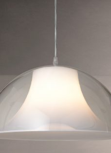 House by John Lewis Morf Acrylic Dome Pendant