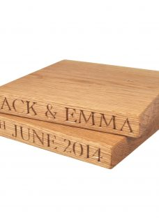 The Oak And Rope Company Personalised Square Chopping Board