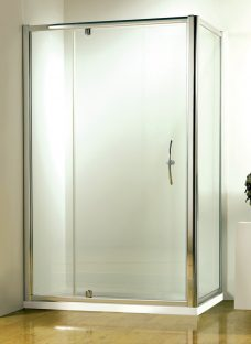 John Lewis 76 x 76cm Shower Enclosure with Pivot Door and Side Panel