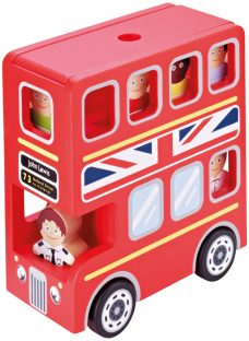 John Lewis Wooden Toy London Double-Decker Bus