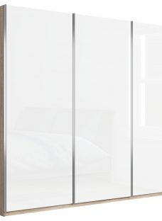 John Lewis Elstra 250cm Wardrobe with Glass Sliding Doors