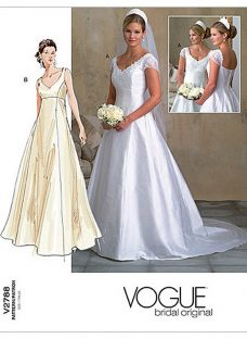 Vogue Women's Bridal Gown Sewing Pattern