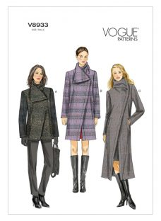 Vogue Women's Funnel Neck Coat Sewing Pattern