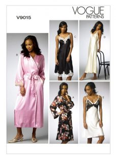 Vogue Women's Nightdress & Bath Robe Sewing Pattern