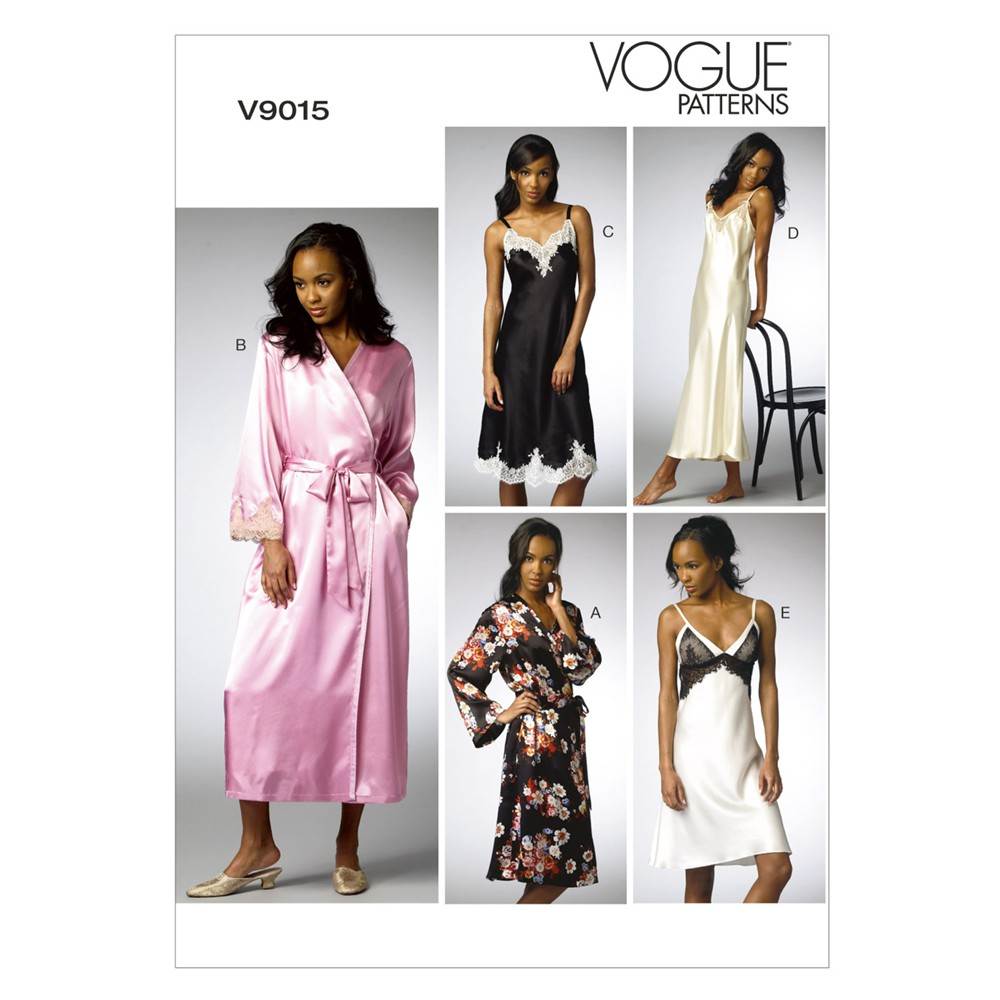 Vogue Women\'s Nightdress & Bath Robe Sewing Pattern, 9015 | Buy It 247