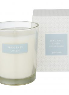 John Lewis Seagrass Linen Boxed Candle