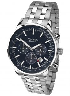 Sekonda 1008.27 Men's Chronograph Bracelet Strap Watch