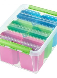SmartStore by Orthex Box 15 with Assorted Colour Inserts (14L)