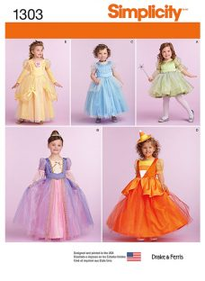 Simplicity Children's Dressing-Up Costumes Sewing Patterns