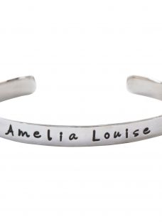 FingerPrint Jewellery Sterling Silver Personalised Baby Name Bracelet