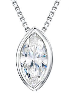 Jools by Jenny Brown Sterling Silver Cubic Zirconia Pendant