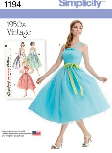 Simplicity 1950s Vintage Women's Dress Sewing Pattern