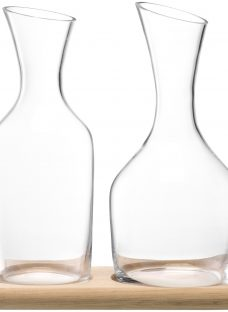 LSA International Bar Collection Water and Wine Carafe Set