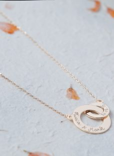 Merci Maman Personalised Intertwined Charm Necklace