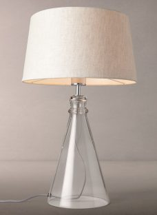 John Lewis Croft Collection Abel Glass Bell Table Lamp