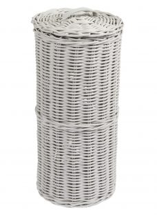 John Lewis Croft Collection Rattan Toilet Roll Holder