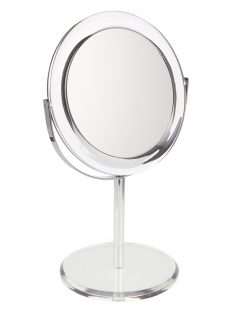 John Lewis Clear Round Acrylic 3 x Magnifying Mirror