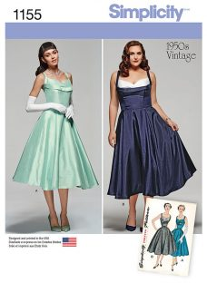 Simplicity 1950's Vintage Women's Dress Sewing Pattern