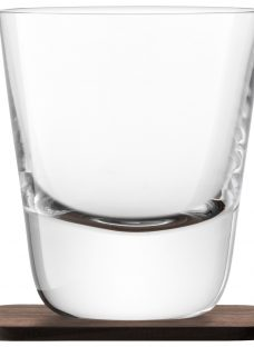 LSA International Conical Whisky Tumbler with Coaster