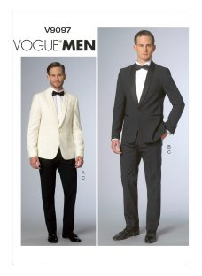 Vogue Men's Tailored Trousers and Jacket Suit Sewing Pattern