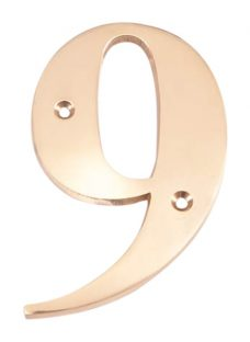The House Nameplate Company Brass Numeral 9
