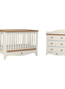 Boori Provence Convertible Plus Cotbed and 3-Drawer Dresser