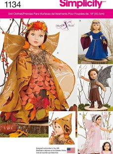 Simplicity 18 Doll Mystical Clothes Sewing Pattern