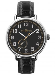 Bell & Ross BRWW197-HER-ST/SCR Men's Heritage Automatic Alligator Strap Watch