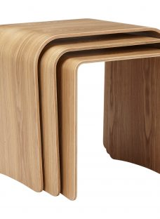 House by John Lewis Bentwood Nest of 3 Tables