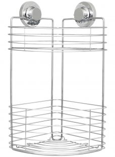 Bliss Lock N Roll 2 Tier Suction Shower Corner Basket