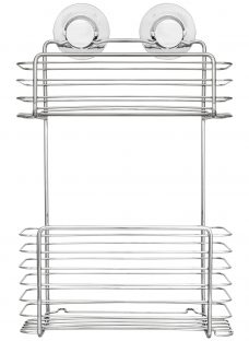 Bliss Lock N Roll 2 Tier Suction Shower Basket