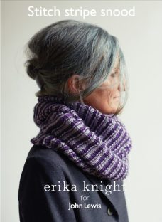 Erika Knight for John Lewis Stitch Stripe Snood Knitting Pattern