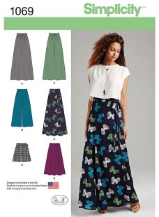 Simplicity Women's Skirt and Trousers Sewing Pattern