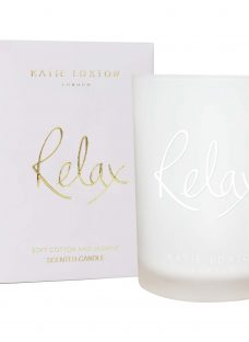 Katie Loxton 'Relax' Soft Cotton and Jasmine Scented Candle