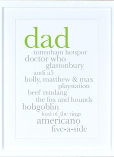 Megan Claire Personalised Dad Definition Framed Print