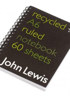 John Lewis Recycled Spiral Bound Notebook A6
