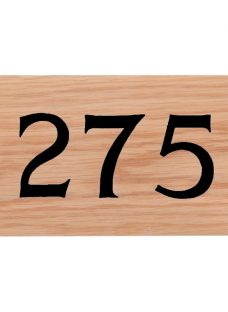 The House Nameplate Company Personalised Iroko Wood House Number