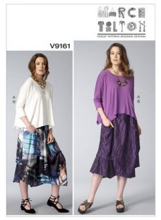 Vogue Misses' Women's Top and Skirt Sewing Pattern