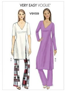 Vogue Women's Tunic and Trousers Sewing Pattern