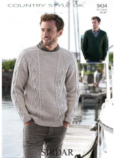 Sirdar Country Style DK Sweater Knitting Pattern
